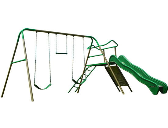 Lifetime Climb and Slide Swing Set Playset - Earthtone