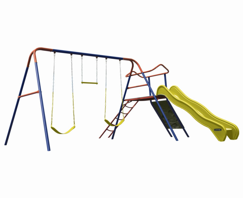 Lifetime Climb and Slide Swing Set Playset - Primary