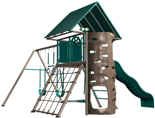 Lifetime Deluxe Swing Set 90042 - Earthtones