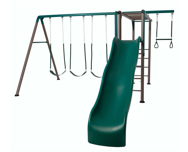 Lifetime Monkey Bar Swing Set Playground - Earthtone