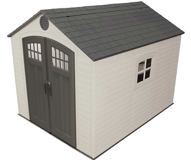 Lifetime 8x10 Outdoor Storage Shed Kit w/ Floor