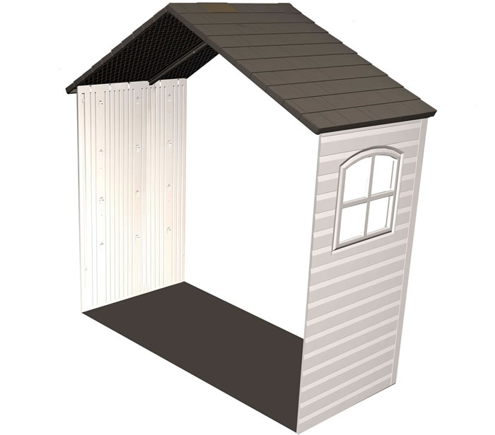Lifetime 8' Shed Extension Kit w/ Window & Skylight