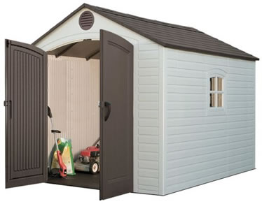 Lifetime Sheds 8x10 Plastic Outdoor Storage Shed Kit