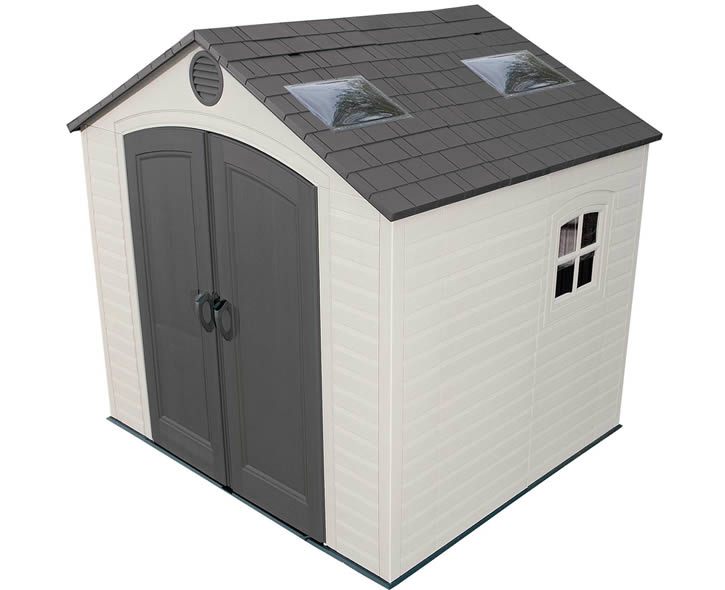 Lifetime Sheds 8x7 Plastic Shed Kit w/ Large Skylights