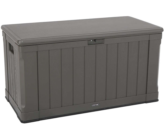 Lifetime Sheds 116 Gallon Simulated Wood Deck Box