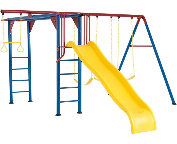 Lifetime Monkey Bar Swing Set Playground - Primary Colors