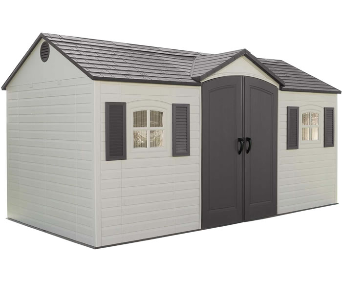 Lifetime 15x8 Plastic Garden Storage Shed w/ Floor