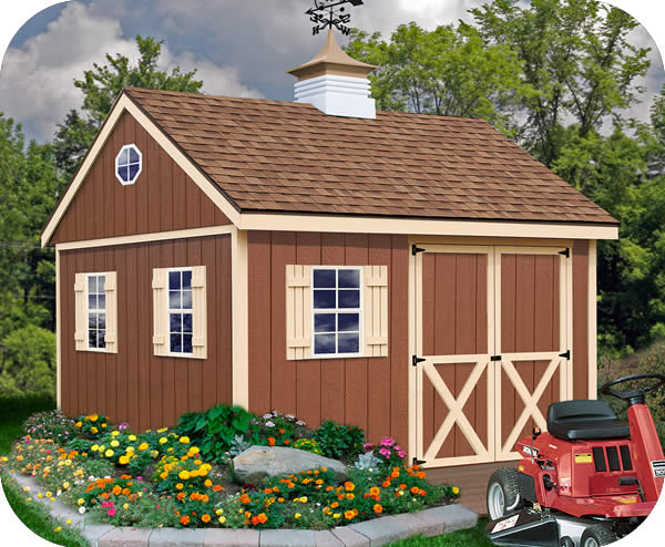 Storage shed loft plans 12 x 12 building kit cheap sheds for Cheap barn kits