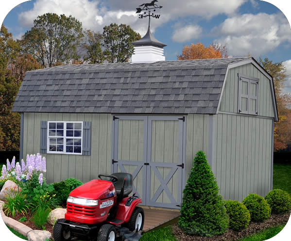 Best Barns Meadowbrook 16x10 Wood Storage Shed Kit