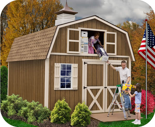 Barn Storage Shed with Loft