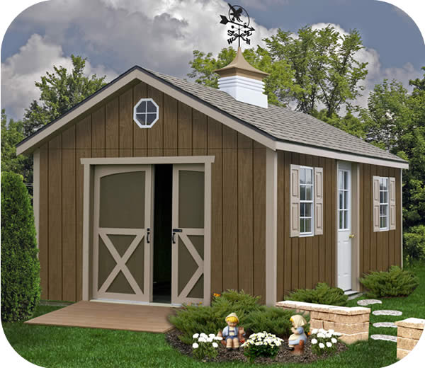 Best Barns North Dakota 12x16 Wood Storage Shed Kit
