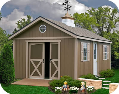 Best Barns North Dakota 12x24 Wood Storage Shed Kit