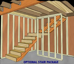 Roanoke Shed Optional Wood Stair Case