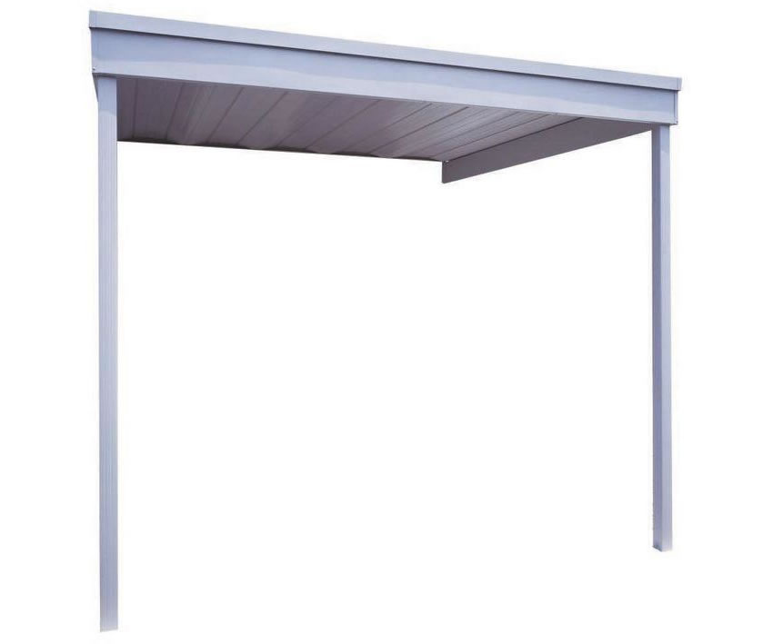 Arrow 10x10 Attached Metal Patio Cover / Carport Kit (