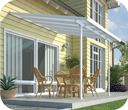 Palram 10x10 Feria Patio Cover Kit - White & Palram 10x10 Feria Patio Cover Kit - White (HG9310)