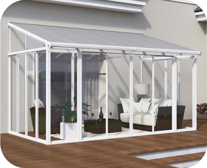 Palram 10x18 SanRemo Patio Enclosure Kit w/ Screen Doors