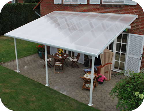 Palram 10x20 Feria Patio Cover Kit - White