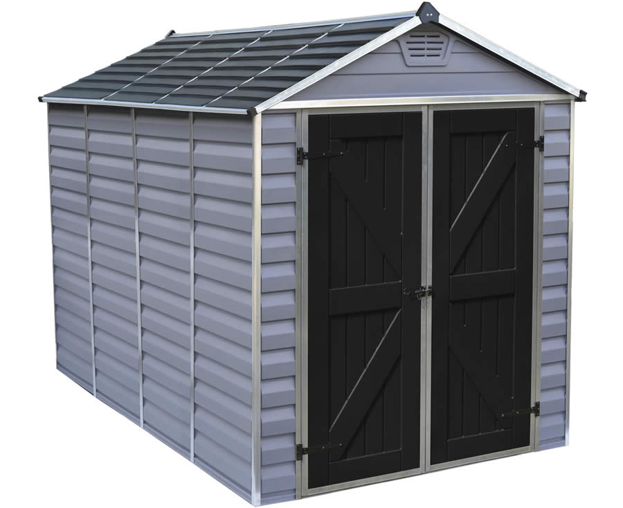 Palram 6x10 Skylight Storage Shed Kit - Gray