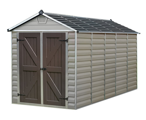 Palram 6x12 Plastic Shed Kit W Skylight Roof Amp Floor