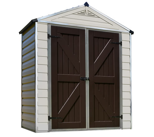 Palram 6x3 Plastic Shed Kit W/ Skylight Roof U0026 Floor