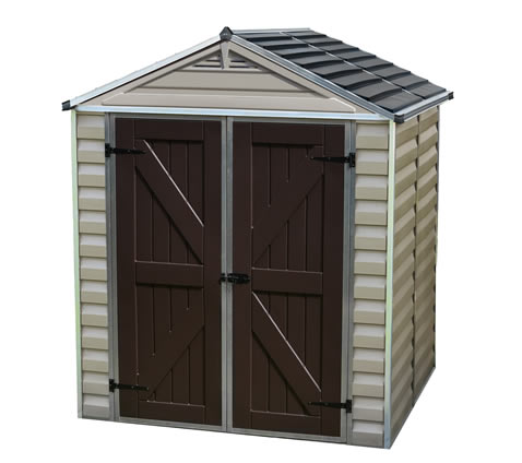 Palram 6x5 Plastic Shed Kit w/ Skylight Roof & Floor