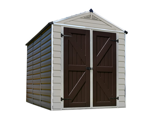 Palram 6x8 Plastic Shed Kit w/ Skylight Roof & Floor