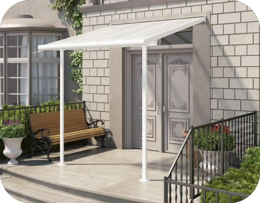 Palram 7.5x7.5 Sierra Patio Cover Kit - White