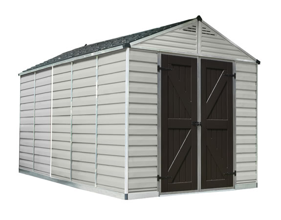 Palram 8x12 Plastic Shed Kit w/ Skylight Roof