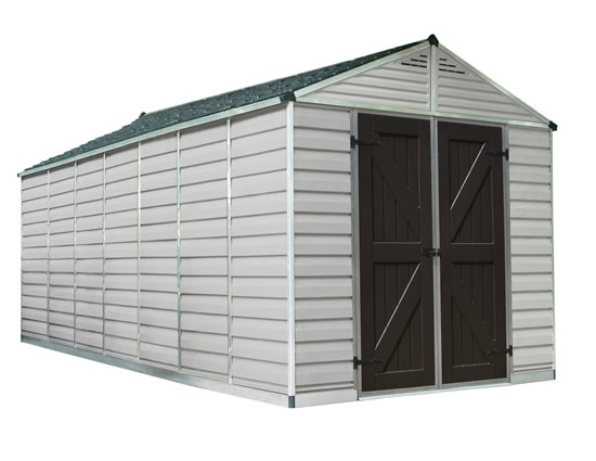 Palram 8x16 Plastic Shed Kit w/ Skylight Roof
