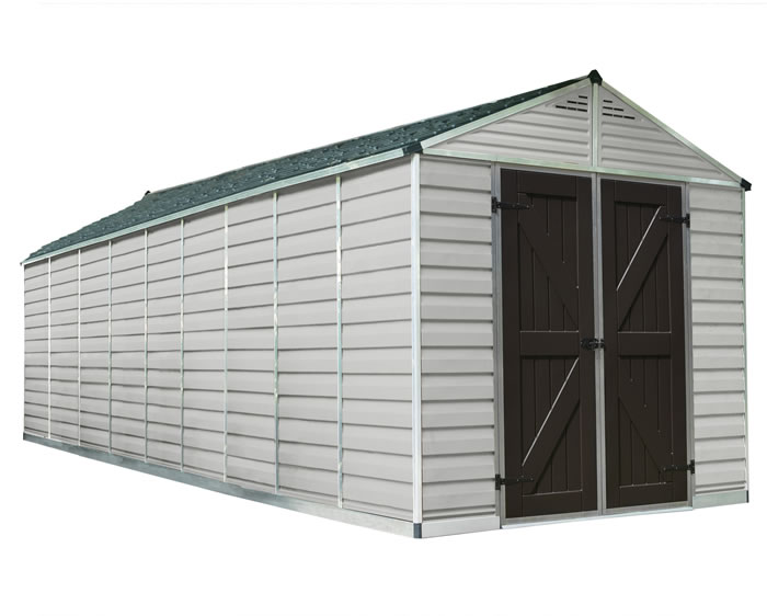 Palram 8x20 Plastic Shed Kit w/ Skylight Roof