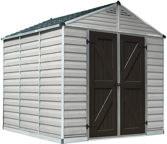 Palram 8x8 Plastic Shed Kit w/ Skylight Roof