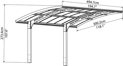 Palram Arizona Breeze Carport Measurements
