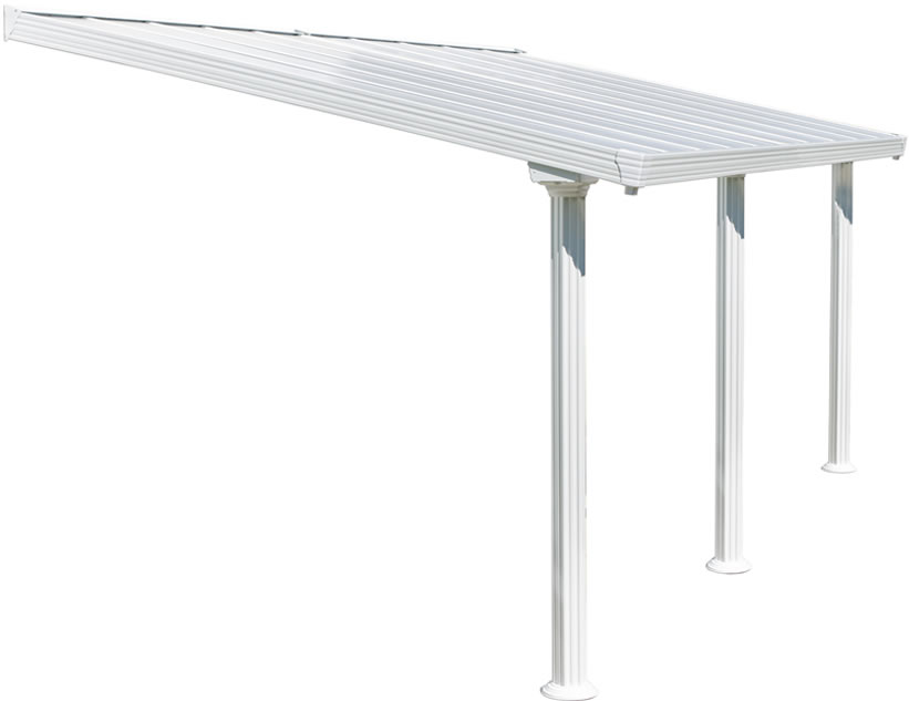 Palram 10x20 Gala Patio Cover Kit - White