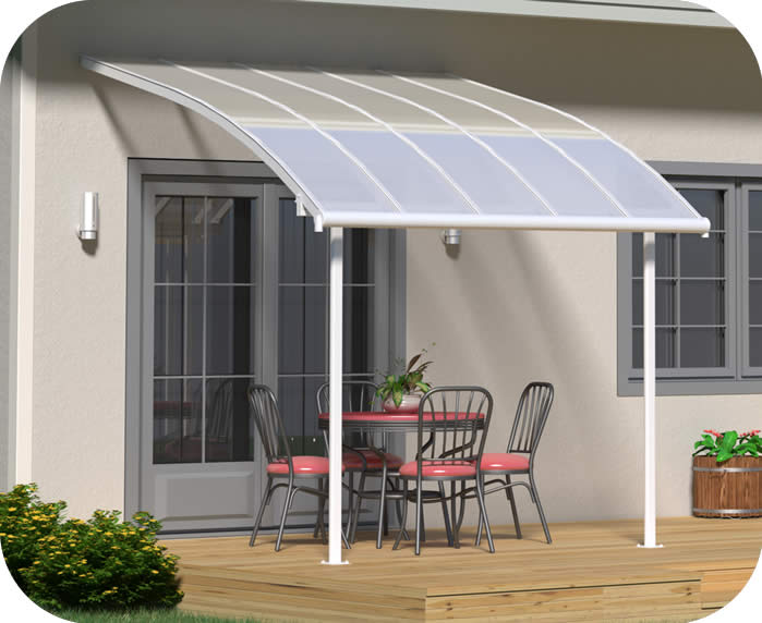 Palram 10x10 Joya Patio Cover Kit - White