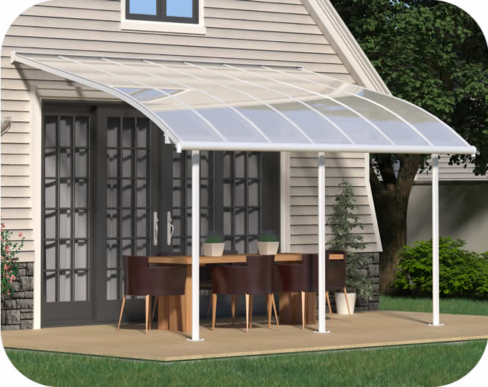Palram 10x14 Joya Patio Cover Kit - White