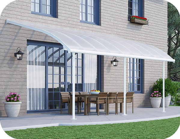 Palram 10x18 Joya Patio Cover Kit - White