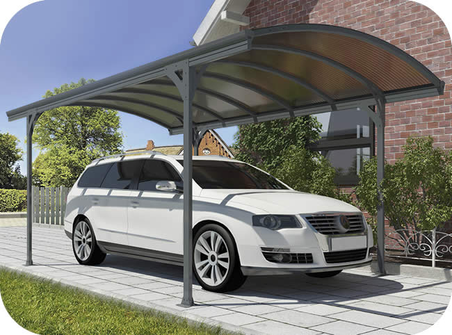 Palram 16x9.5 Vitoria 5000 Metal Carport Kit