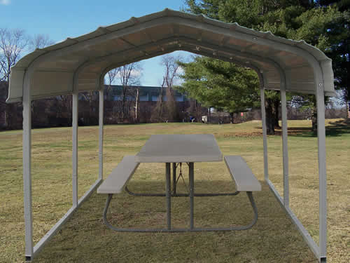 Rhino 7x10x6 Steel Carport Front View