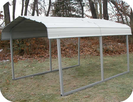 Rhino Shelters 7x10x6 Steel Auto Carport Kit
