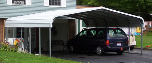 Rhino 22x24x12 Steel Carport Front View