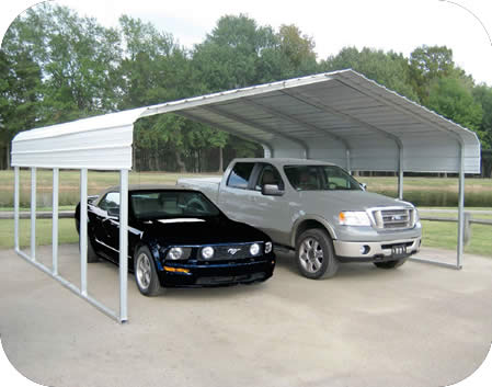 Rhino Shelters 22x24x12 Steel Auto Carport Kit