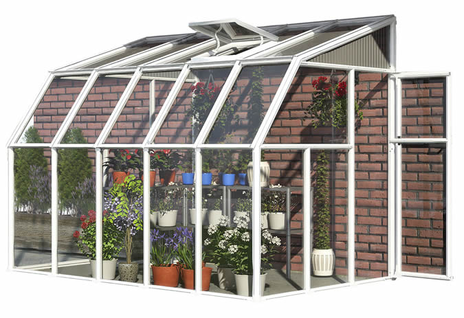 Rion 6x10 Sun Room 2 Greenhouse Kit - White