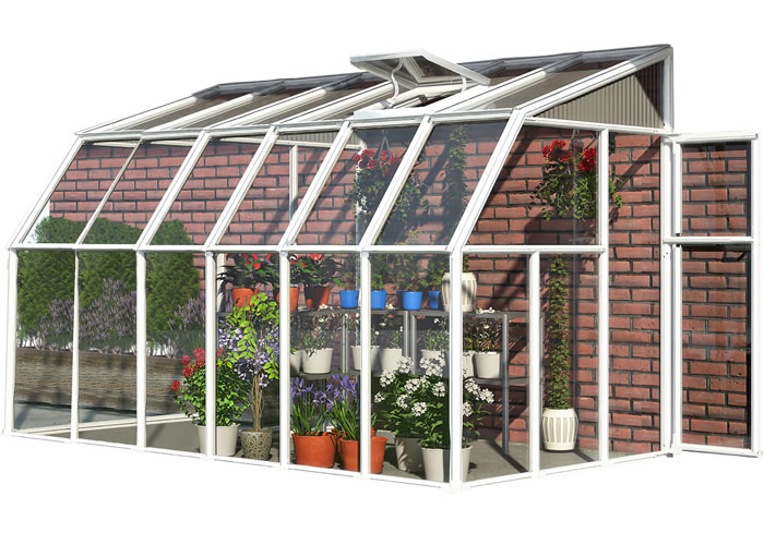 Rion 6x14 Sun Room 2 Greenhouse Kit - White