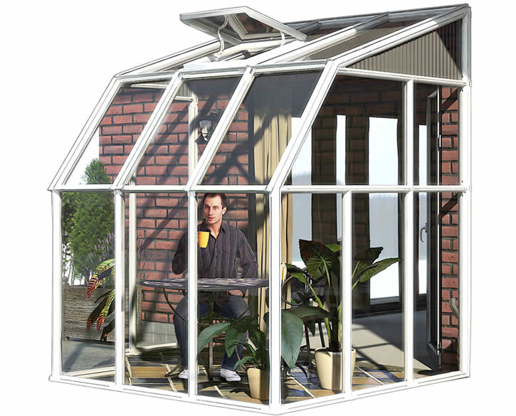 Rion 6x6 Sun Room 2 Greenhouse Kit - White