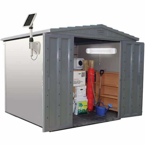 Storage Shed Roof Kits Solar Lights