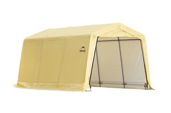Shelter Logic 10x15x8 Peak Style Auto Shelter Kit - Sandstone