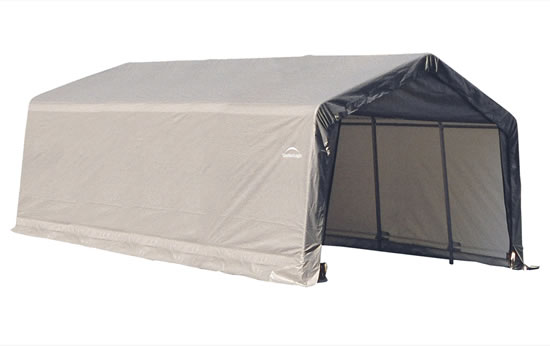 Affordable Instant Shelters : Shelter logic peak style kit grey