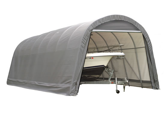 Shelter Logic 12x24x10 Round Style Shelter Kit - Grey