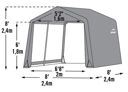shelterlogic box plastic x style peak in a shed storage grays grey ft sheds p