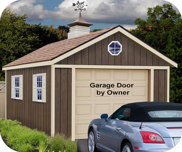 Sierra 12x20 wood storage garage shed kit for Garage barn kits